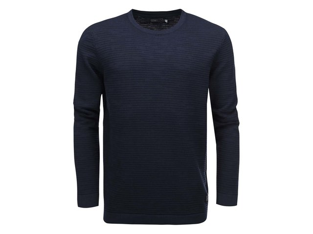 Tmavě modrý svetr s texturou Jack & Jones Rain