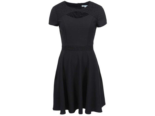Černé šaty s průstřihem Fever London Gabrielle