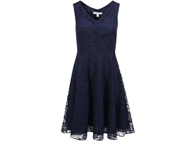 Tmavě modré krajkované šaty Fever London Los Feliz