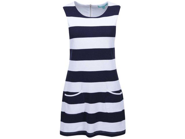 Modré-bílé pruhované šaty Fever London South Beach