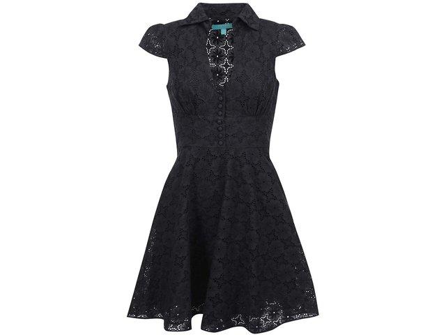 Černé krajkované šaty Fever London Sahara