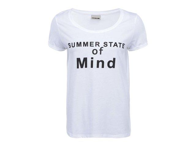 Bílé tričko s nápisem Noisy May Anton