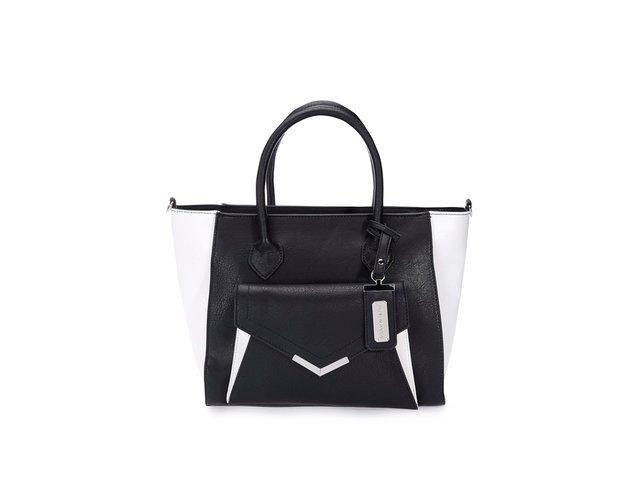 Bílo-černá kabelka s kapsou Steve Madden Sophy