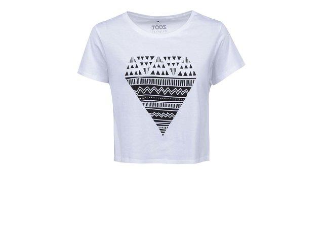 Bílé dámské krátké tričko s potiskem ZOOT Originál Diamant