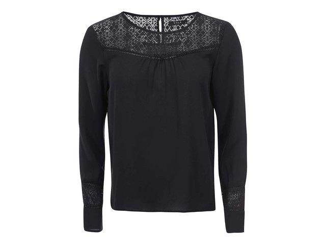 Černá halenka s krajkovými detaily VILA Neck Lace