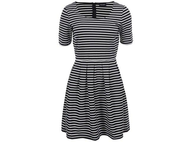Černo - bílé kratší pruhované šaty VILA Jaeger