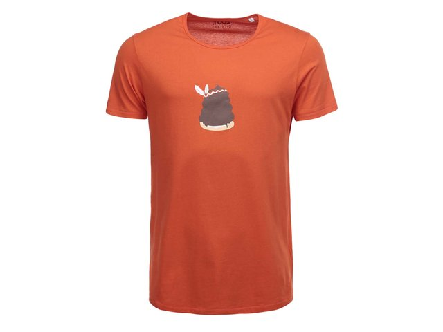 Oranžové pánské triko s potiskem ZOOT Originál Indiánek