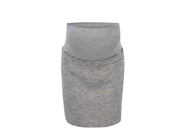 Šedá žíhaná těhotenská sukně Mama.licious Mel