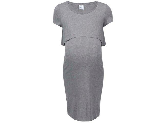 Šedé těhotenské šaty Mama.licious Cage