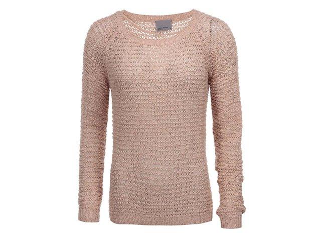 Růžový svetr Vero Moda Verla