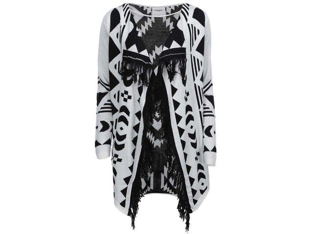 Bílo-černý vzorovaný cardigan Vero Moda Sui