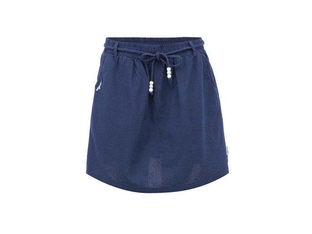 Tmavě modrá sukně se šňůrkou Ragwear Plaja
