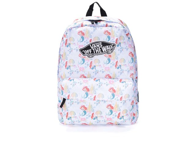 Bledě modrý batoh s potiskem Ariel Vans Disney Old Skool