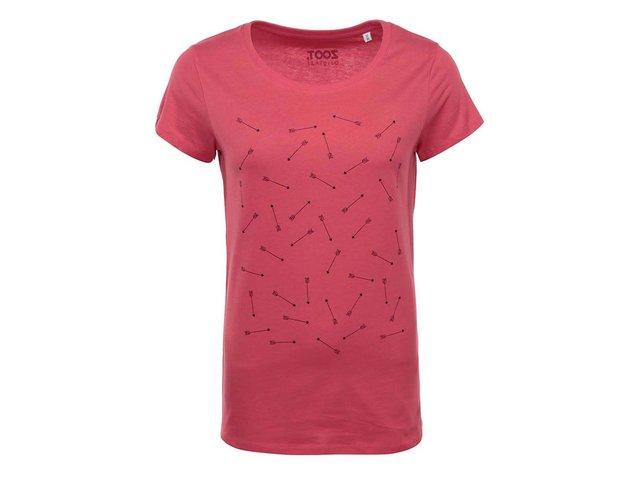 Červené dámské tričko s potiskem ZOOT Originál Šípy