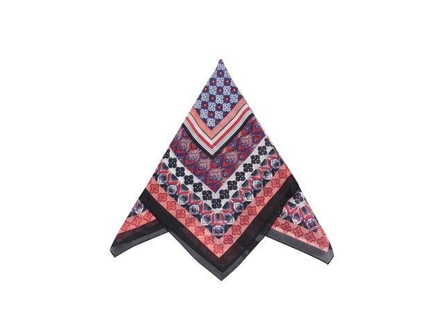 Černo-červený vzorovaný šátek Pieces Roxanna
