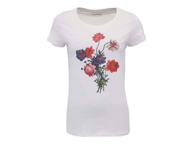 Krémové dámské triko ZOOT Originál Květiny