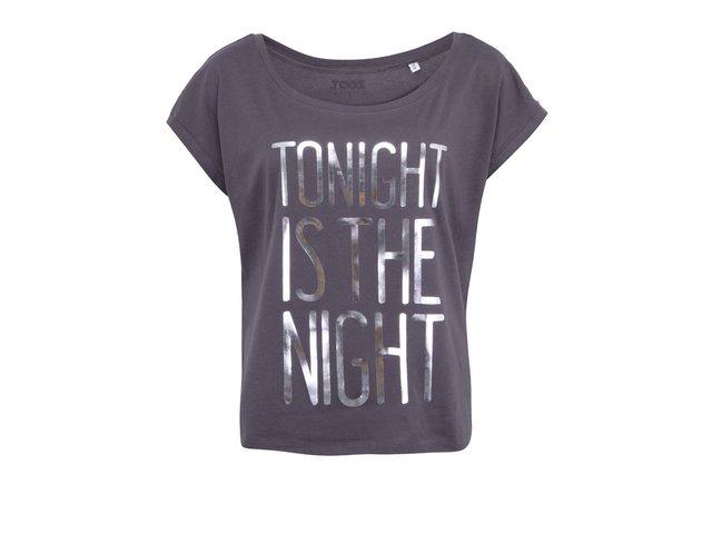 Šedé dámské triko ZOOT Originál Tonight Is The Night