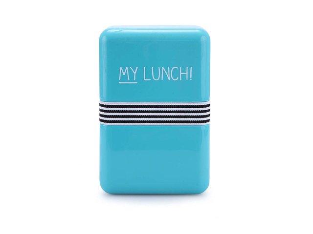 Tyrkysový svačinový box Happy Jackson Lunch Box My Lunch