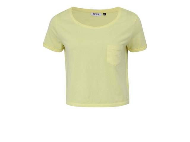 Žluté kratší tričko s kapsou ONLY Ella