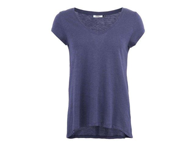Tmavě modré volnější tričko ONLY Gold