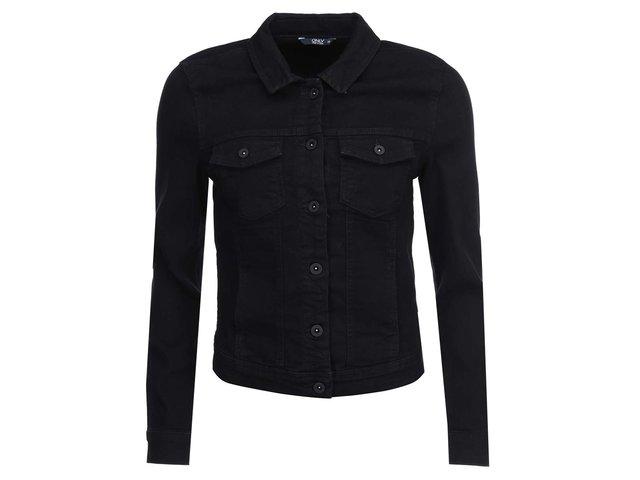 Černá kratší džínová bunda ONLY Westa
