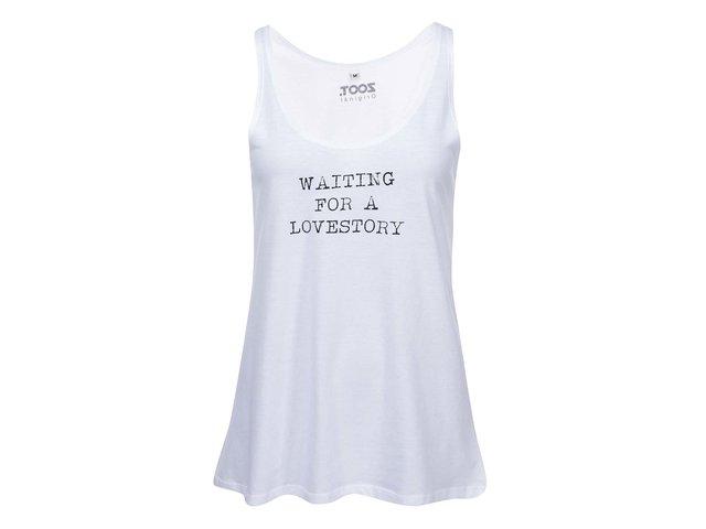 Bílé dámské tílko ZOOT Originál Waiting For a Lovestory
