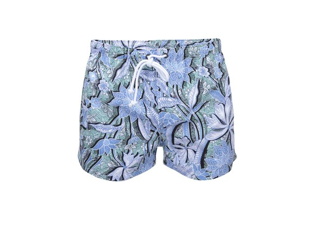 Zeleno-modré květované plavky aussieBum Scent Vintage