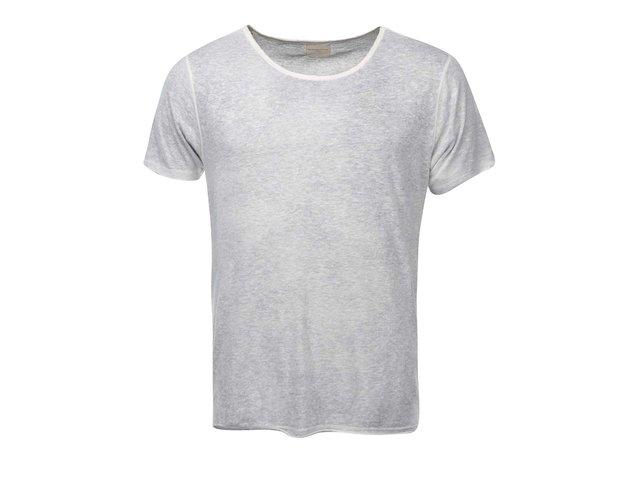 Světle šedé triko s krátkým rukávem Selected Blame