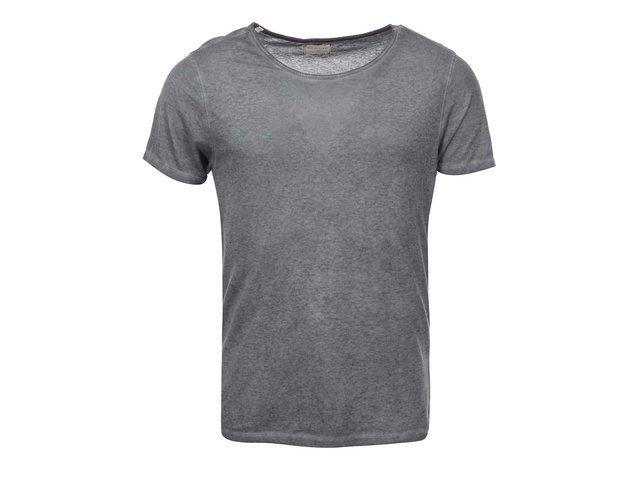 Šedé triko s krátkým rukávem Selected Blame