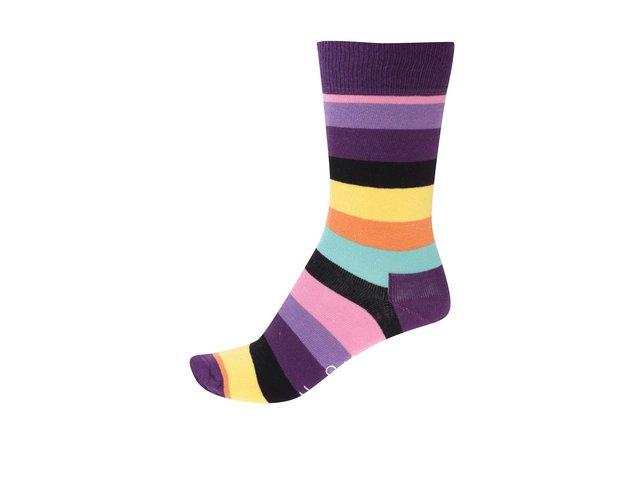 Barevné dámské pruhované ponožky Happy Socks Stripe