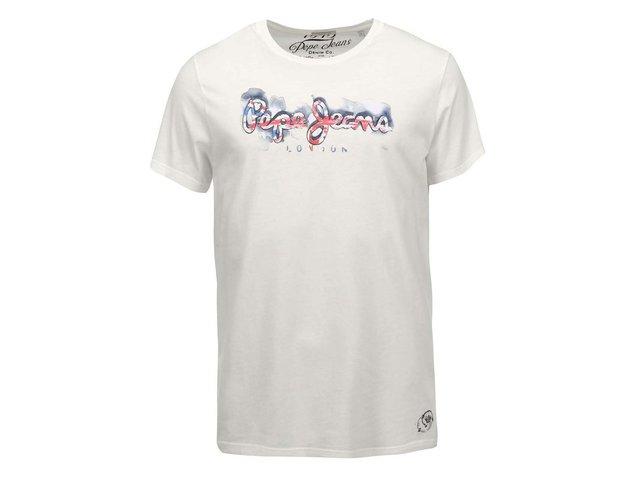 Krémové pánské triko s potiskem Pepe Jeans David