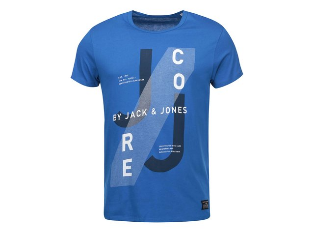 Modré triko s potiskem Jack & Jones Hatti
