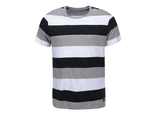 Bílé pruhované triko Jack & Jones Ken