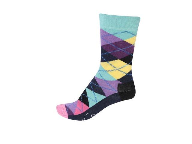 Barevné unisex kárované ponožky Happy Socks Argyle