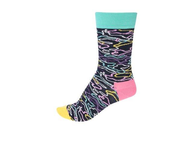 Barevné dámské vzorované ponožky Happy Socks Electric