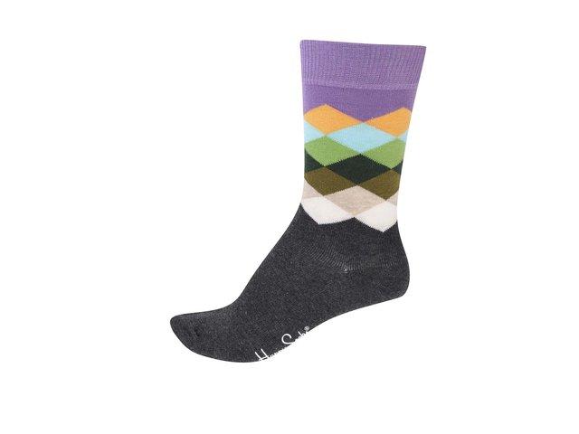 Barevné unisex vzorované ponožky Happy Socks Faded Diamond
