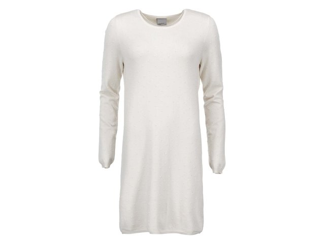 Krémové šaty s dlouhým rukávem Vero Moda Glory