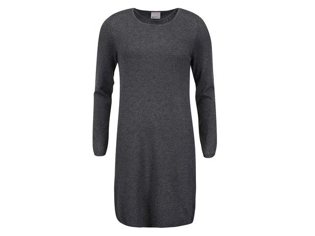 Tmavě šedé šaty s dlouhým rukávem Vero Moda Glory