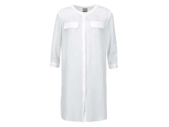 Bílá delší košile Vero Moda Juna