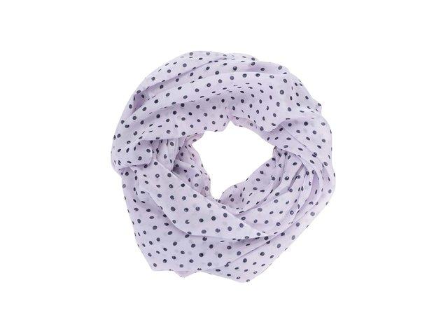 Světle fialový dutý šátek s puntíky Pieces Roxy