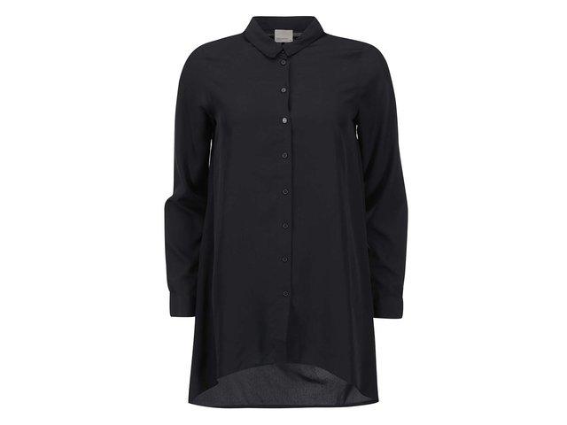 Černá dlouhá průsvitná košile Vero Moda Cona