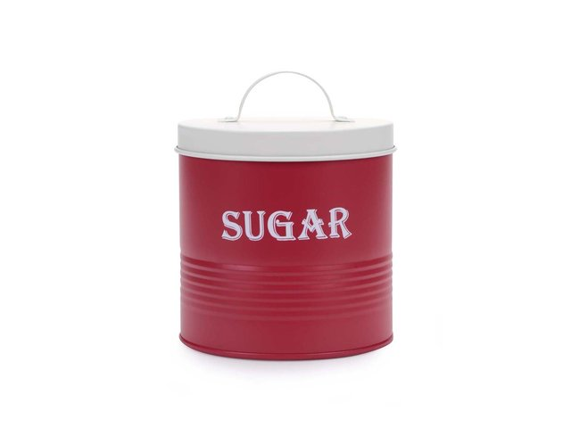 Červená dóza na cukr Helio Ferretti