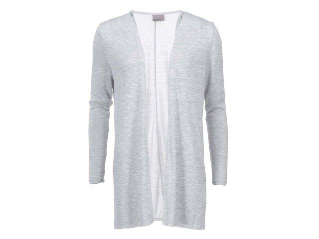 Světle šedý žíhaný cardigan Vero Moda Anna