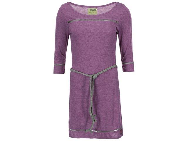 Fialové šaty s tříčtvrtečními rukávy Tranquillo Lima