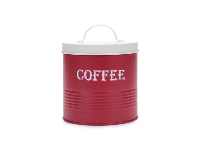 Červená dóza na kávu Helio Ferretti