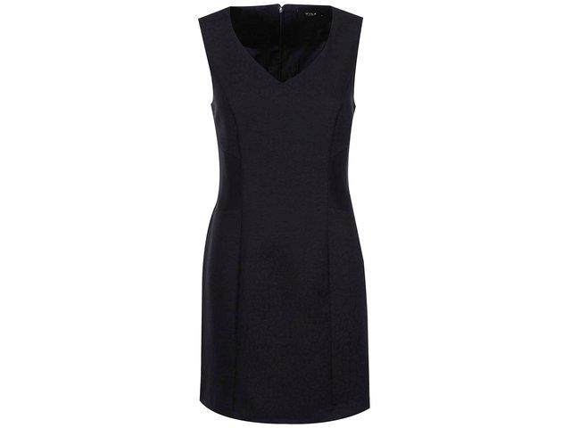 Černé pouzdrové šaty VILA Edith
