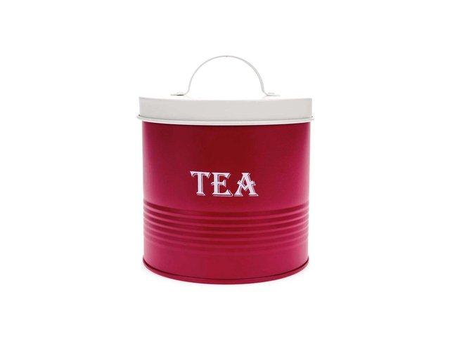 Červená dóza na čaj Helio Ferretti