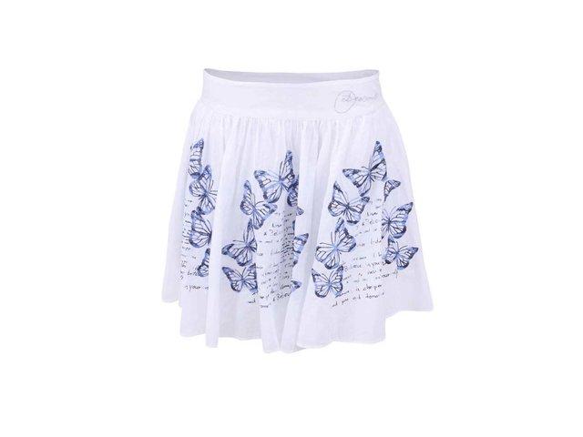 Bílá sukně s vyšitými motýlky Desigual Capricornio