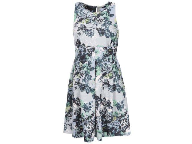 Šedé šaty s květinovým potiskem Closet