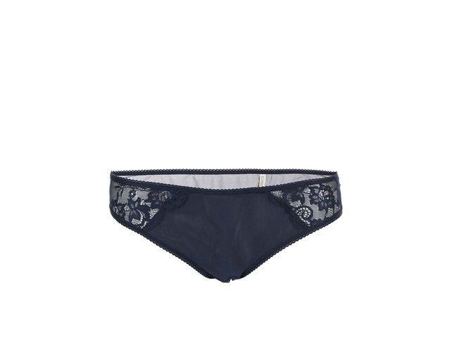 Tmavě modré kalhotky s krajkou Pieces Vilma